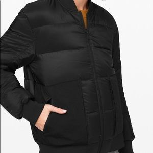 Lululemon Roam Wear Bomber Jacket Black